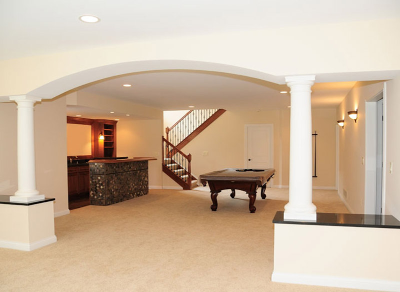 Basement conversion with pool table