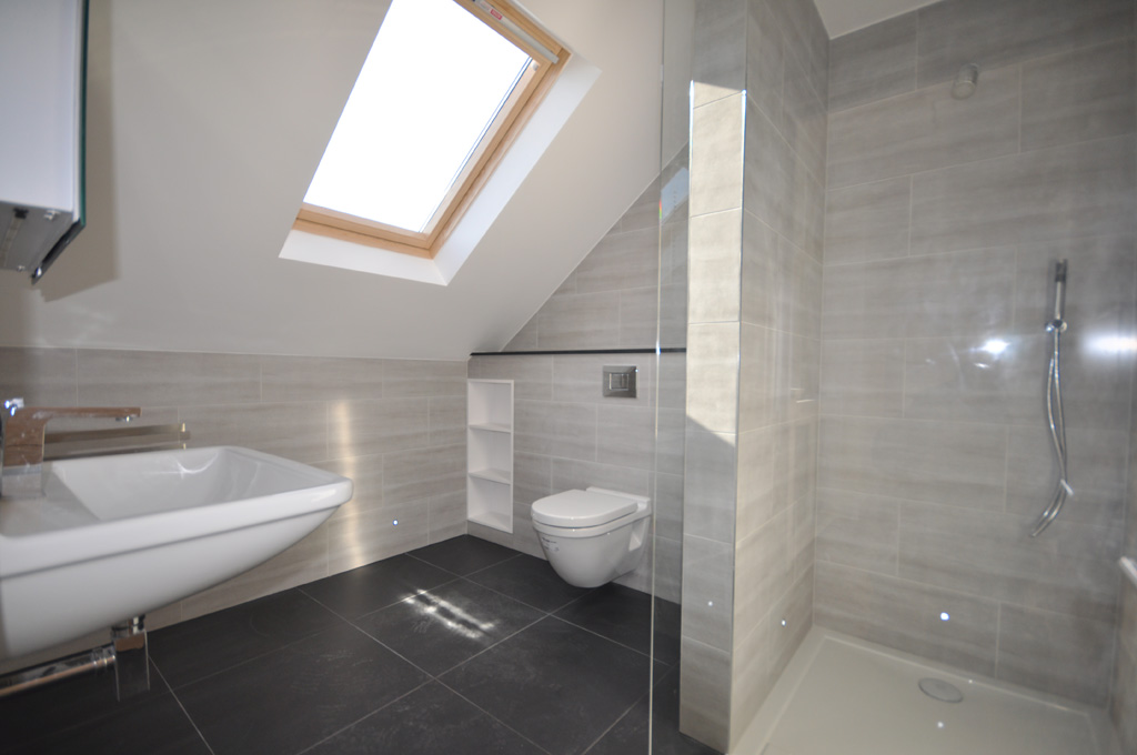 Loft bathroom on pinterest attic bathroom loft for Bathroom ideas loft conversion